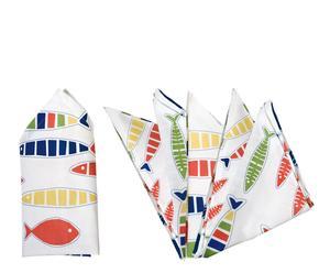 Set de 6 servilletas en algodón – multicolor II