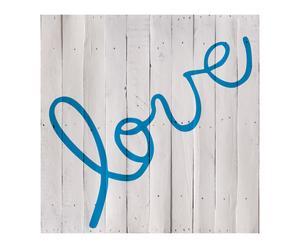 Cabecero Love, azul – 100x100