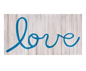 Cabecero Love, azul – 190x100