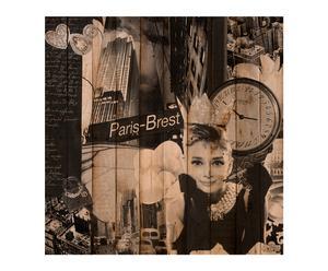 Cabecero Audrey blanco y negro – 100x100
