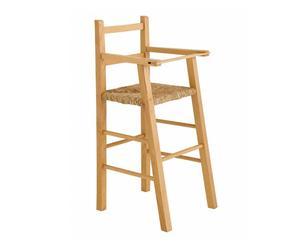 Silla infantil en madera y paja – natural