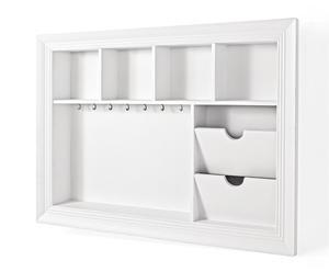 Organizador con portafotos – blanco