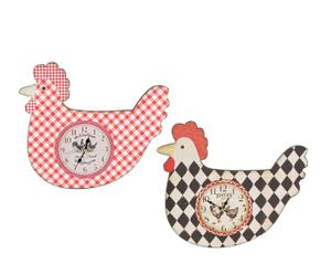Set de 2 relojes de pared en DM Gallinas