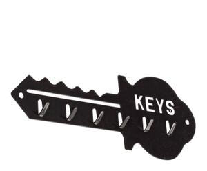 Portallaves de metal keys - negro