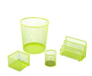 Set de 4 accesorios de oficina - verde