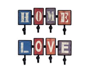 SET de 2 colgadores Home Love- 8 ganchos