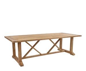 Mesa rústica en madera de teca – natural