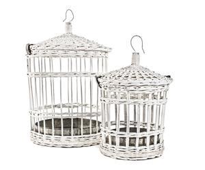 Set de 2 jaulas de mimbre