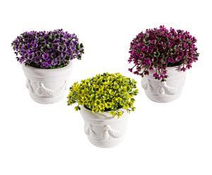 Set de 3 plantas artificiales con macetas en cerámica