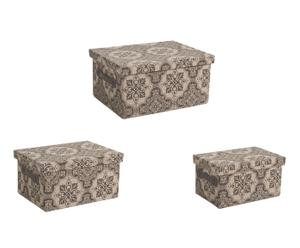 Set de 3 cestas Arabesque - gris