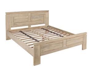 Estructura de cama en madera de mango maciza Kastle
