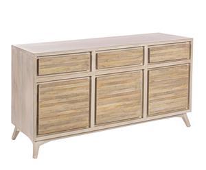 Aparador en madera con 3 armario y 3 cajones Dexter - natural