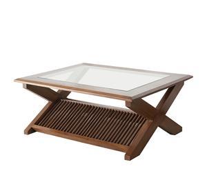Mesa de centro-revistero de madera de teca
