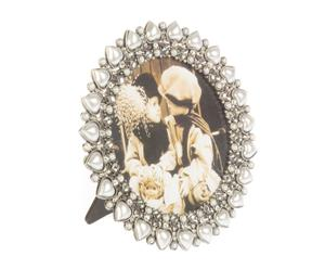 Marco de fotos con perlas