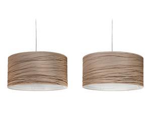Set de 2 lámparas de techo con pantalla de tela rugosa, marrón - Ø50