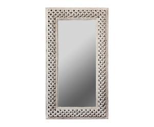 Espejo rectangular de resina – gris pátina