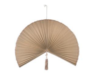 Abanico decorativo de bambú, beige - mediano