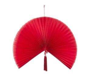 Abanico decorativo de bambú, rojo - grande