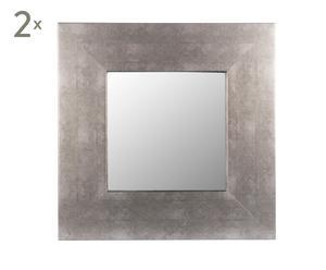 Set de 2 espejos en DM – gris