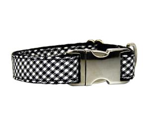Collar Textura Baga, blanco y negro - mediano