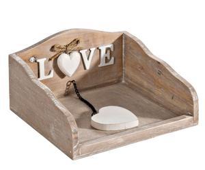 Porta servilletas de madera Amour