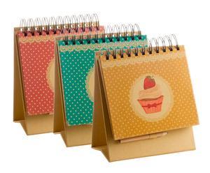 Set de 3 libretas con lápices Cupcake