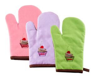 Set de 3 manoplas Cupcake