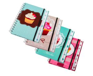 Set de 4 libretas Cupcake