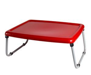 Bandeja de cama en plástico y metal - roja