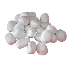 Piedras decorativas de cerámica - blancas
