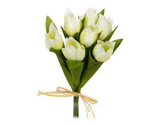 Ramo de tulipanes de poliéster – crema