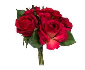 Ramo de rosas de poliéster – rojo
