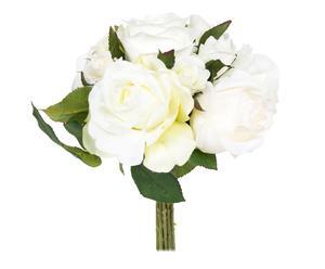 Ramo de rosas de poliéster – crema