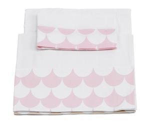 Juego de sábanas de cuna, 3 piezas - rosa