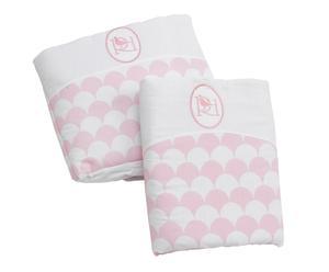 Conjunto de vestidura y colcha de minicuna Abeona - rosa