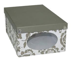 Caja plegable de cartón, gris - mediana