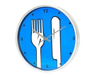 Reloj de cocina en plástico – azul