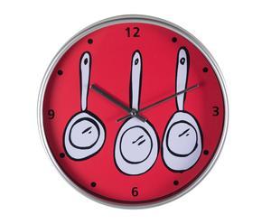 Reloj de cocina en plástico – rojo