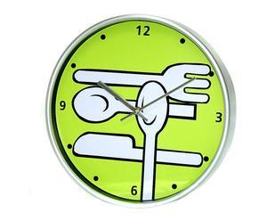 Reloj de cocina en plástico – verde