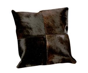 Funda de cojín efecto piel de vaca - marrón