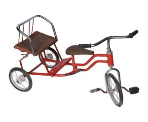 Bicicleta tándem vintage – rojo