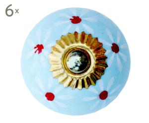 Set de 6 tiradores de porcelana – Ø4 I