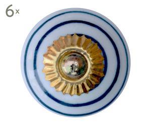 Set de 6 tiradores de porcelana – Ø4 IV