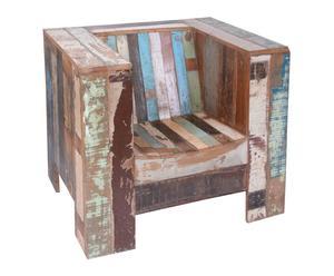 Butaca en madera tropical reciclada - multicolor