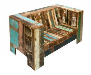 Sofá en madera tropical reciclada - multicolor