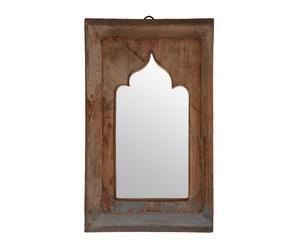 Espejo árabe de madera maciza de teca y mango reciclada Rawan