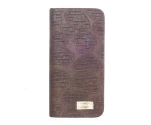 Cartera de PVC y tela - marrón