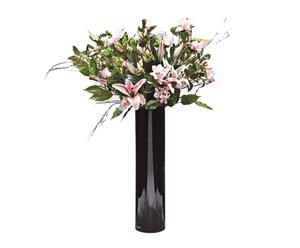 Centro floral con lirios artificiales