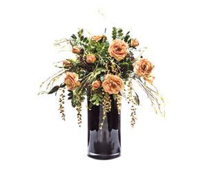 Centro floral con plantas artificiales en poliéster II – negro
