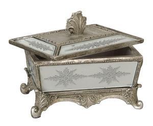 Caja cuadrada de resina veneciana – argento